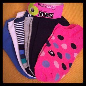 🆕 ONLY 1-6PK! HUE Cotton Liner Socks, 6PK